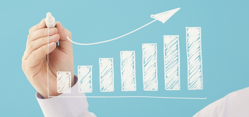 Bar chart business growth